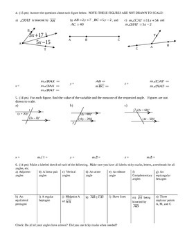 Geometry Group Practice Test Introductory Material Fall 2013 (Editable)