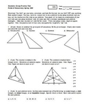 Geometry Group Practice Test Points of Concurrency Spring 2009 (Editable)