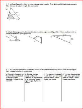Geometry Group Practice Test Radicals Proportions Similarity Trig Spring 2013