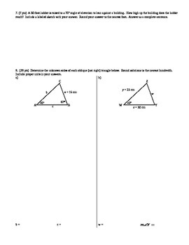 Geometry Group Practice Test Radicals Proportions Similarity Trig Spring 2014