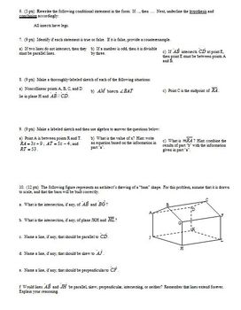 Geometry Group/Practice Test Introductory Material 2007 two pages (Editable)