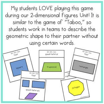 """Geometry """"Guess It!"""" Game {Includes 2 Versions}"""