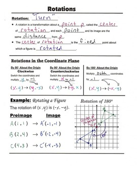 Geometry Guided Interactive Math Notebook (Bundle): 2nd Semester Concepts