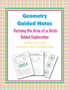Geometry Guided Interactive Math Notebook Page: Area Explo