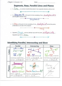 Geometry Guided Interactive Math Notebook Page (Bundle): Geometric Foundations