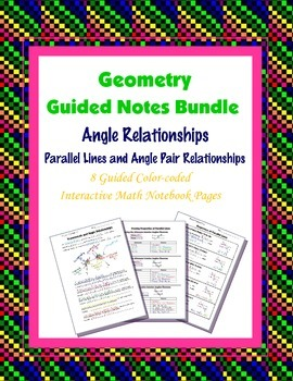 Geometry Guided Interactive Math Notebook Page (Bundle):