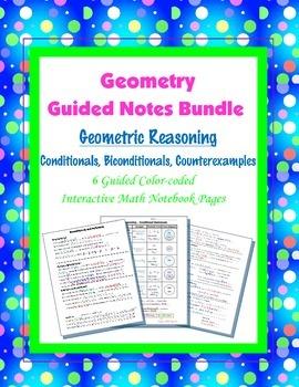 Geometry Guided Interactive Math Notebook Page (Bundle): Geometric Reasoning