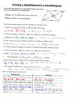 Geometry Guided Interactive Math Notebook Page (Bundle): Polygons