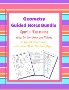 Geometry Guided Interactive Math Notebook Page (Bundle): S