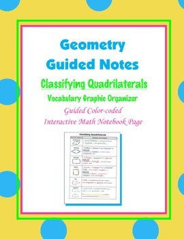 Geometry Guided Interactive Math Notebook Page: Classifying Quadrilaterals