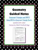 Geometry Guided Interactive Math Notebook Page: Congruent Triangles, (CPCTC)