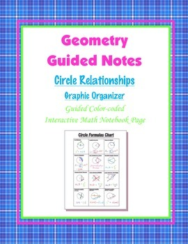 Geometry Guided Interactive Math Notebook Page: Graphic Organizer Circles