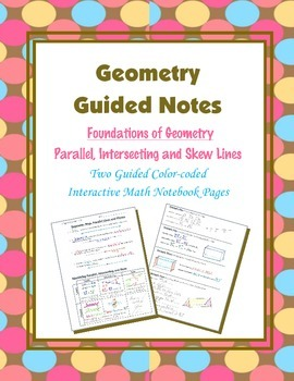 Geometry Guided Interactive Math Notebook Page: Parallel,