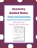 Geometry Guided Interactive Math Notebook Page: Polygon Angle-sum Theorem