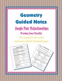 Geometry Guided Interactive Math Notebook Page: Proving Lines Parallel