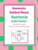 Geometry Guided Interactive Math Notebook Page: Quadrilaterals Graphic Organizer