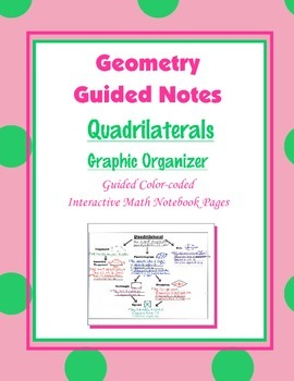 Geometry Guided Interactive Math Notebook Page: Quadrilate