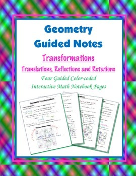 Geometry Guided Interactive Math Notebook Page: Rigid Tran