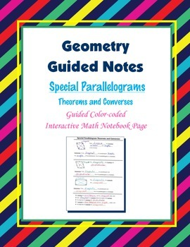 Geometry Guided Interactive Math Notebook Page: Special Pa