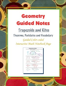 Geometry Guided Interactive Math Notebook Page: Trapezoid