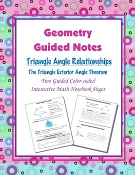 Geometry Guided Interactive Math Notebook Page: Triangle E