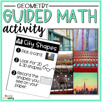 Geometry Guided Math Activity City Shapes