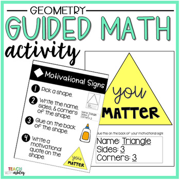 Geometry Guided Math Activity Motivational Signs