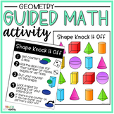 Geometry Guided Math Activity Shape Knock It Off