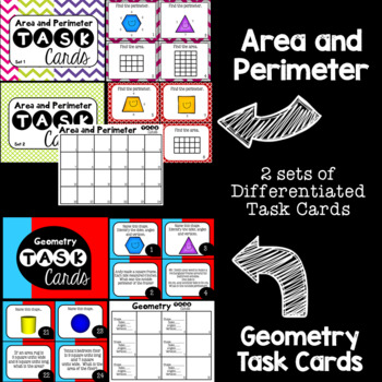 Geometry Guided Math Task Cards