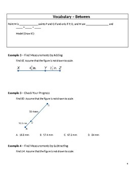 Geometry Guided Notes - 1.2 Linear Measure