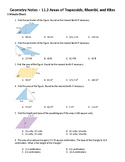 Geometry Guided Notes – 11.2 Areas of Trapezoids, Rhombi,