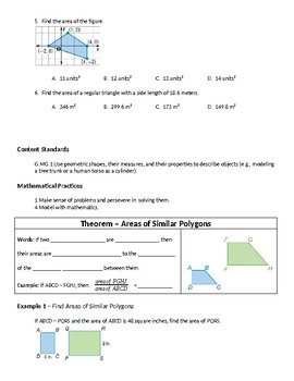 Geometry Guided Notes – 11.5 Areas of Similar Figures