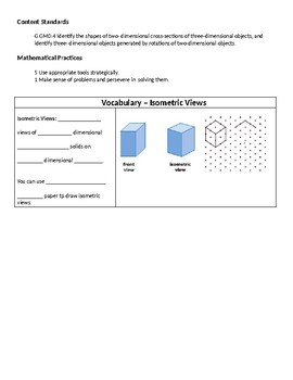 Geometry Guided Notes – 12.1 Representations of Three-Dimensional Figures