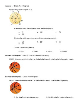 Geometry Guided Notes – 12.7 Spherical Geometry