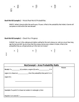 Geometry Guided Notes – 13.3 Geometric Probability