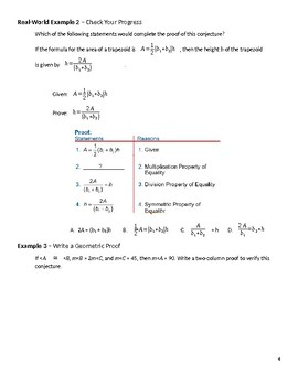 Geometry Guided Notes – 2.6 Algebraic Proofs