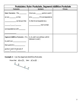 Geometry Guided Notes – 2.7 Proving Segment Relationships