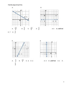 Geometry Guided Notes – 3.3 Slopes of Lines