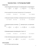 Geometry Guided Notes – 3.5 Proving Lines Parallel