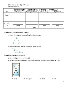 Geometry Guided Notes – 4.1 Classifying Triangles