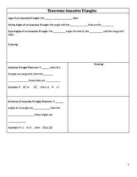 Geometry Guided Notes – 4.6 Right, Isosceles, and Equilateral Triangles