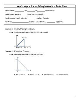 Geometry Guided Notes – 4.8 Triangles and Coordinate Proof