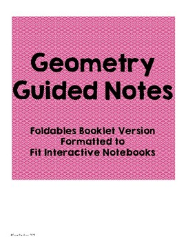 Geometry Guided Notes