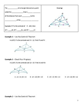 Geometry Guided Notes – 5.2 Medians and Altitudes of Triangles