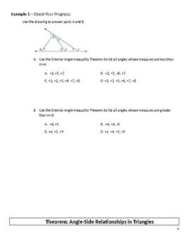 Geometry Guided Notes – 5.3 Inequalities in One Triangle