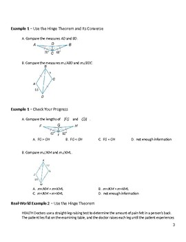 Geometry Guided Notes – 5.6 Inequalities in Two Triangles