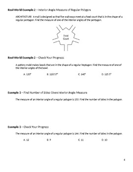 Geometry Guided Notes – 6.1 Angles of Polygons