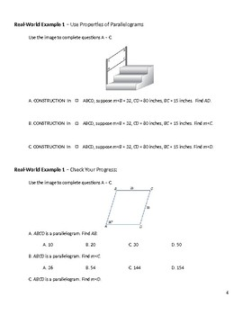 Geometry Guided Notes – 6.2 Parallelograms