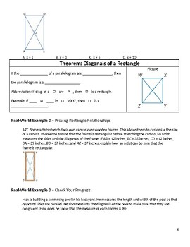 Geometry Guided Notes – 6.4 Rectangles