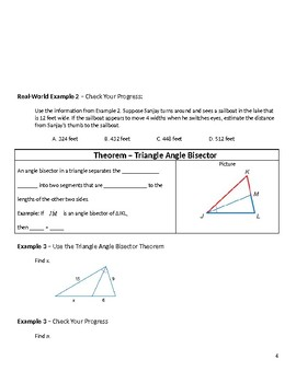 Geometry Guided Notes – 7.5 Parts of Similar Triangles